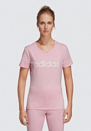 Футболка adidas D2M LOGO TEE. Цвет: розовый