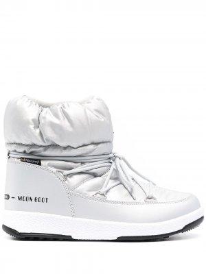 Дутые ботинки Monaco с логотипом Moon Boot. Цвет: черный