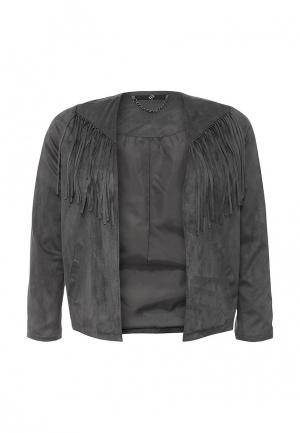 Куртка кожаная Evans EV006EWIKV88. Цвет: серый