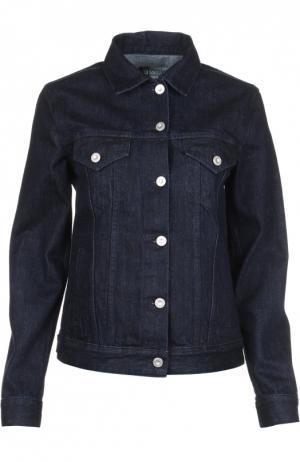 Джинсовая куртка Etre Cecile. Цвет: темно-синий