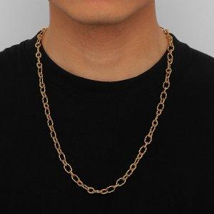 Мужской Цепное ожерелье минималистичный SHEIN. Цвет: золотистый