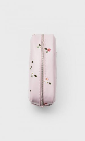 Косметичка С Цветочной Вышивкой Пастельно-Розовый 103 Stradivarius. Цвет: пастельно-розовый