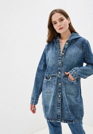 Куртка джинсовая Forza Viva. Цвет: синий