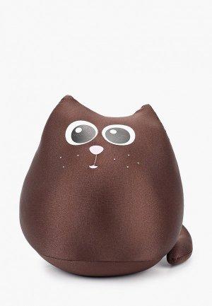 Подушка декоративная Gekoko. Цвет: коричневый