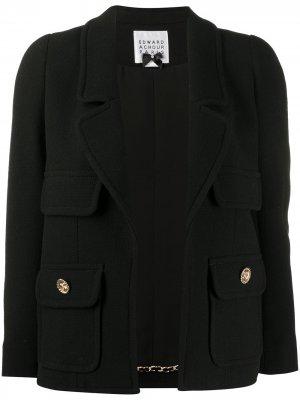 Укороченная куртка Edward Achour Paris. Цвет: черный