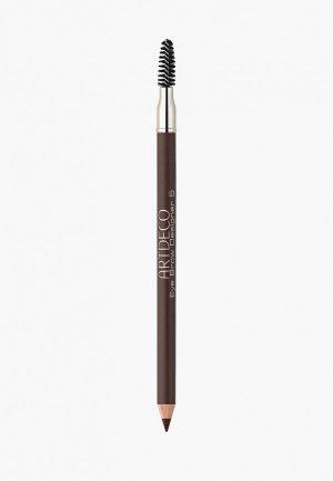 Карандаш для бровей Artdeco с щеточкой Eye Brow Designer, тон 5, 0.8 г. Цвет: коричневый