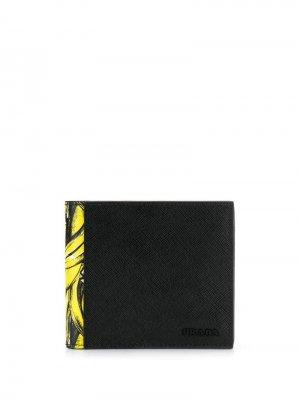 Бумажник с принтом Prada. Цвет: черный