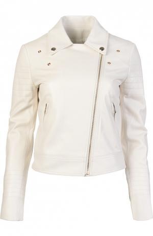 Кожаная куртка Yves Salomon. Цвет: белый