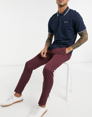 Бордовые брюки для костюма Premium-Красный Jack & Jones