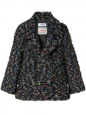 Твидовое пальто Coohem. Цвет: черный