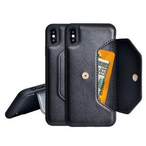 Простой чехол-кошелек для телефона SHEIN. Цвет: чёрный