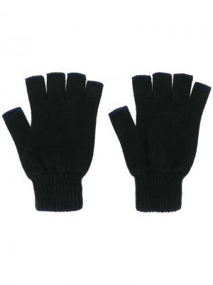 Трикотажные перчатки без пальцев Pringle Of Scotland. Цвет: синий