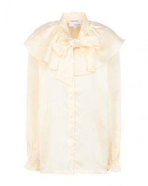 Pубашка DESIGNERS, REMIX. Цвет: светло-желтый