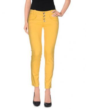 Повседневные брюки FORNARINA. Цвет: желтый