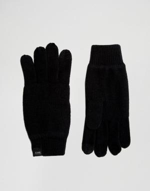 Перчатки для сенсорных гаджетов DNA Jack & Jones. Цвет: черный