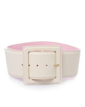 Кожаный ремень AGEANT 1 белый+розовый Essentiel. Цвет: белый+розовый