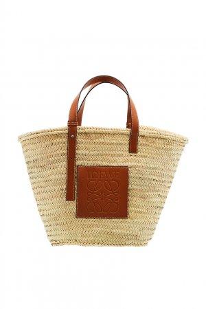 Плетеная сумка Large Basket Loewe. Цвет: коричневый