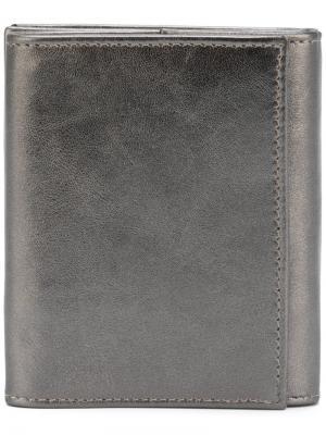 Классический бумажник Ann Demeulemeester. Цвет: металлический