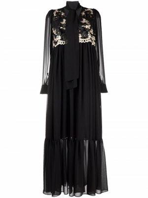 Платье с цветочной вышивкой Antonio Marras. Цвет: черный