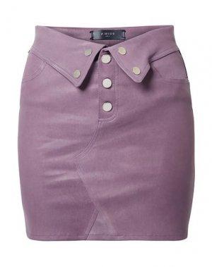 Мини-юбка AMIRI. Цвет: светло-фиолетовый