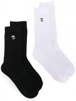 Комплект спортивных носков K/Ikonik Karl Lagerfeld. Цвет: черный