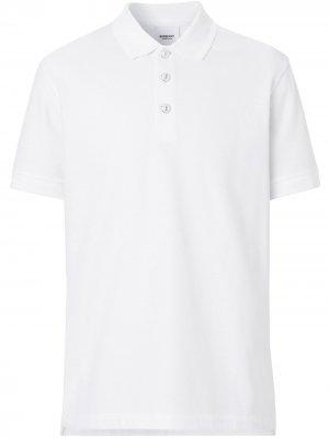 Рубашка-поло с короткими рукавами Burberry. Цвет: белый