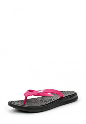 Сланцы Nike WOMENS SOLAY THONG. Цвет: розовый