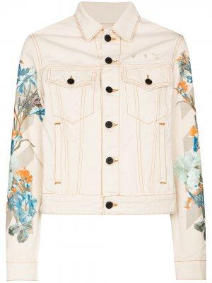 Джинсовая куртка с цветочным принтом Off-White. Цвет: 0310 off белый cream