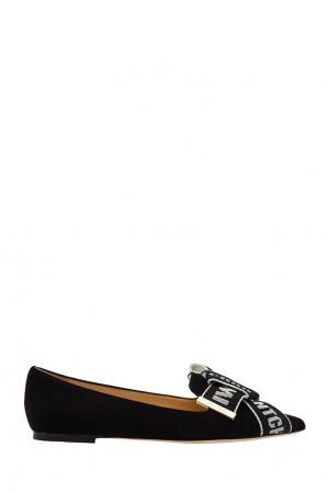 Черные туфли с бантом Gleam Flat Jimmy Choo. Цвет: черный