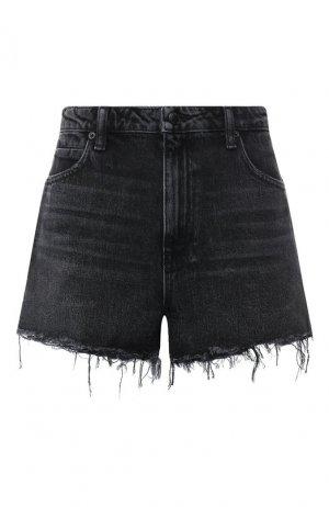 Джинсовые шорты Denim X Alexander Wang. Цвет: темно-серый
