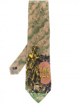 Галстук 1990-х годов с принтом Jean Paul Gaultier Pre-Owned. Цвет: зеленый
