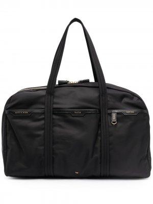 Дорожная сумка на молнии Anya Hindmarch. Цвет: черный