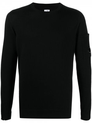 Топ с длинными рукавами и нашивкой-логотипом C.P. Company. Цвет: черный