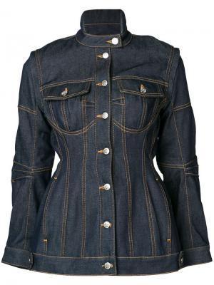 Джинсовая куртка Marine Serre. Цвет: синий