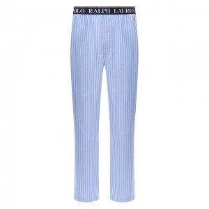 Хлопковые домашние брюки Polo Ralph Lauren. Цвет: синий