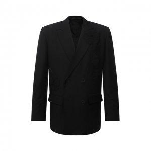 Шерстяной пиджак Valentino. Цвет: чёрный