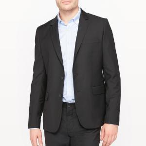 Пиджак костюмный прямого покроя La Redoute Collections. Цвет: черный