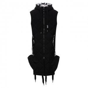 Утепленный жилет с варежками Dolce & Gabbana. Цвет: чёрный