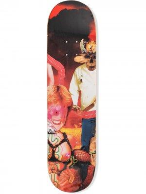 Доска для скейтборда из коллаборации с Sekintani Supreme. Цвет: розовый
