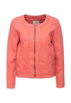 Куртка кожаная Sela. Цвет: коралловый