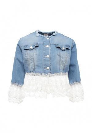 Куртка джинсовая Rinascimento. Цвет: голубой