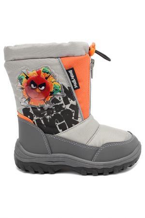 Сапожки Angry Birds. Цвет: серый