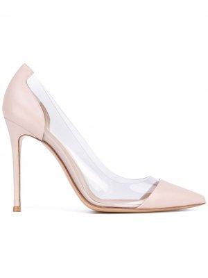 Туфли с прозрачными вставками Gianvito Rossi. Цвет: нейтральные цвета