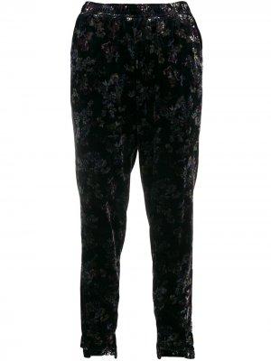 Бархатные брюки Victoria Gold Hawk. Цвет: синий