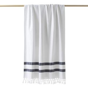 Полотенце махровое в стиле пляжного покрывала ANTALYA LA REDOUTE INTERIEURS. Цвет: белый,бледно-зеленый,индиго,терракота