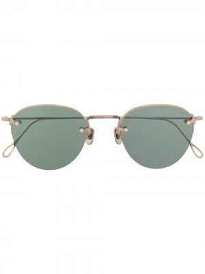 Круглые солнцезащитные очки без оправы Eyevan7285. Цвет: золотистый