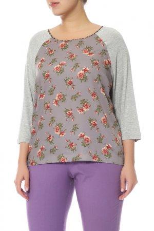 Блуза Elena Miro. Цвет: серый, коричневый, красный