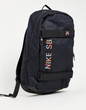 Черный рюкзак для скейтбординга с мозаичным логотипом Courthouse Skate-Черный цвет Nike SB