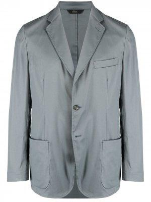 Однобортный пиджак Brioni. Цвет: серый