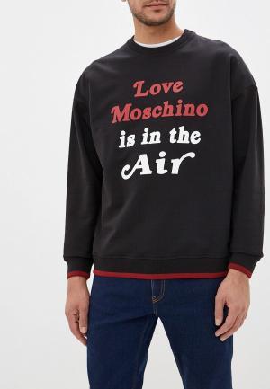 Свитшот Love Moschino. Цвет: черный